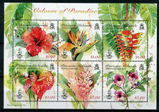 Pitcairn Islands 2018 MNH Colours of Paradise Hibiscus 6v M/S Flowers Stamps
