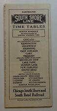 Chicago South Shore & South Bend Railroad 1939 Public System Timetable  9-24-39