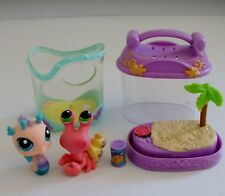 Littlest Pet Shop Portable Pets Hermit Crab # 62 & Sea Horse # 142