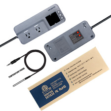 Inkbird Digital Temperature Controller Itc608T Thermostat 15A 110V Heat Cool Us
