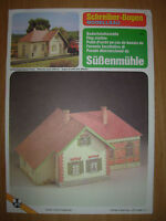 RAILWAY FLAG STATION - SCHREIBER-BOGEN - CUT-OUT CARD MODEL KIT - 1:90 SCALE