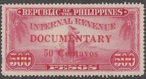 Philippines Republic Documentary Revenue Barefoot #264 used 50c/500p 1960 cv $48