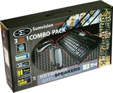 sum vision 3 in 1 combo pack keyboard, mouse & speaker set