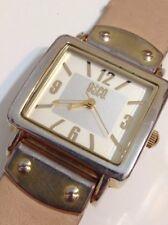 9 & Co Ladies Designer Gold Tone Excellent Working Quartz Watch