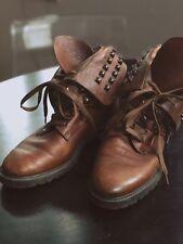 Zara Stiefeletten aus Leder 39 Boots in cognac, Stiefel mit Nieten 7aeba70cfa