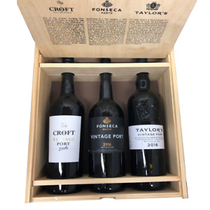 Taylors,Fonseca & Croft 2016 Vintage Port Collection in Wood 3 x 75cl