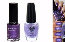 Revlon Sangria Purple & Lilac Glitter Shimmer Duo Nail Varnish Set