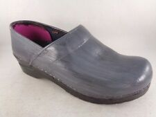 Sanita Dansko Danish Clogs Size 39 Handpainted Gray/Blue Slip Ons Women C5