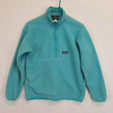 Patagonia Synchilla Marsupial Fleece Blue 1/2 Zip Pullover Jacket Kids Sz Xl 14