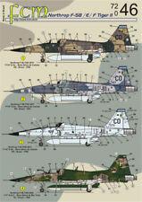 FCM Decals 1/72 Northrop F-5B/F-5E/F-5F (FAB) # 72046