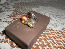 Silpada R2759 Harmony Cubic Zirconia Glass & Sterling Silver Ring Size 6