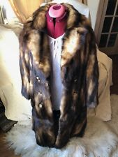 Amazing VINTAGE FITCH MINK FUR LONG COAT NATURAL BROWN BLONDE BLACK - SMALL/Med.