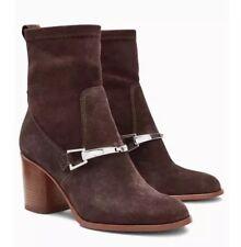 New *Next* (size Uk 4) Brown Suede Leather Block Heel Sock Boots EU 37