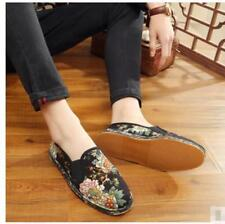 Men's Fashion Traditional Chinese Style Flowers Casual Cotton Shoe handwork R920