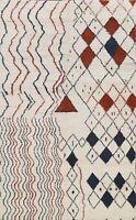 Geometric Modern Moroccan Berber Oriental Area Rug Hand-knotted Wool Carpet 7x9