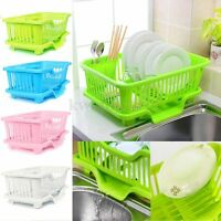 4-Color Kitchen Dish Sink Drainer Drying Rack Wash Holder Basket Organizer