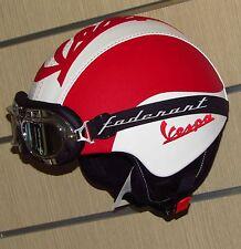 Casco in eco pelle vintage personalizzato vespa lambretta Moto Guzzi Harley Dav