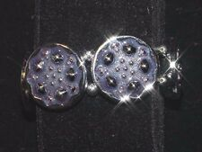 Stretch Bracelet - Blue and Silver Round Medallions - New