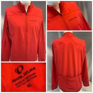 Pearl Izumi Cycling Jacket XL Men Red Poly Full Zip Back Pockets NWOT YGI E1-21