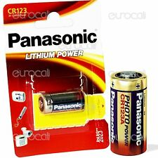 20 Pile Panasonic CR123 Litio 3V CR 123 Lithium Power Batterie Fotocamere Flash