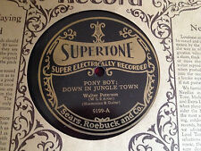 SUPERTONE Old store Stock NOS 1920's Victrola 78 rpm record Walter Peterson