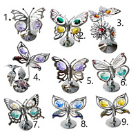 Crystocraft Butterfly Ornament Crystal Ornament Swarovski Elements Gift Box