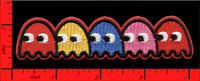 Pac-Man Ghost Embroidered Applique Iron/Sew-on Patches Blinky Pinky Inky Clyde