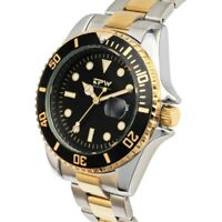 TPW brand accurate classic men watch stainless steel gold watch rotary watch