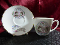 Vintage HRH Prince Charles & Lady Diana Spencer CUP & SAUCER Royal Wedding 1981