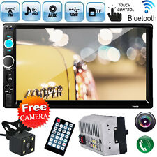 "2 Din 7"" In Dash Car Stereo MP5 Player Bluetooth Touchscreen Radio FM Aux+Camera"
