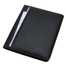 Alassio CREMONA Schreibmappe Konferenzmappe Aktenmappe A4 Leder schwarz 43006