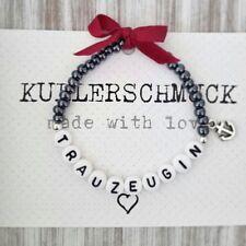 Armband Perlenarmband Trauzeugin Braut Brautjungfer Namensarmband Hochzeit