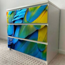IKEA 3 DRAWERS MALM Colourful Wings Removable Textile Sticker for furniture