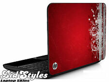 LidStyles RED GRUNGE Vinyl Laptop Cover Skin Decal fits HP PAVILION G6