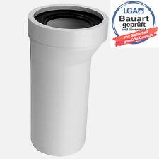 WC Anschluß Rohr 20mm Versatz Verbindung für Toilette Stutzen Anschlußrohr weiss