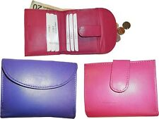 Lot of 3 New Ladies Leather Purple/pink Wallet, Card slots Billfold coin case BN