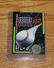 Rare & Collectible 1993 TEAM BLOCKBUSTER #22 RBI Baseball'93 Game Card-Near Mint