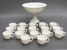 "Vintage McKee Glass Co. 19 Pc milk glass punch set ""The Concord"" 1950's 1960's"