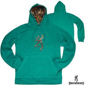 Browning Buckmark Camo Hoodie (XL)- Jade