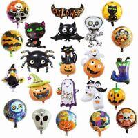 Happy Halloween Pumpkin Black Cat Bat Ghost Foil Balloons Party Decor Supplies