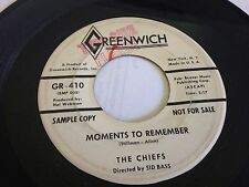 The Chiefs - Moments to Remember / Enchiladas! Rare White Label PROMO 7' Vinyl