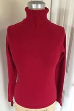 Ciera & co Super Soft Red Turtleneck Thin Cozy Fall Winter Sweater