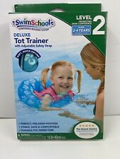 SwimSchool Deluxe Tot Swim Trainer w/Strap Inflatable Swim Float Level 2 Blue