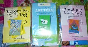 Mini yard art garden flags BLESS OUR NEST GET LUCKY SPRING DRAGONFLY U pick NEW