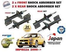 FOR SUBARU IMPREZA 1.6 2.0 WRX TURBO 2000->NEW 2x FRONT + 2x REAR SHOCK ABSORBER