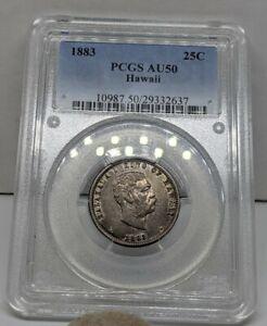 1883 Hawaii Quarter. PCGS AU50. Very Original Coin. Problem Free Example.