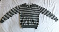 NEXT Boys Girls Unisex Grey Striped Long Sleeve Knit Sweaters Size 6 Years