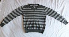 NEXT Boys Girls Unisex Grey Striped Long Sleeve Knit Sweaters Size 6 Years