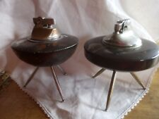 VINTAGE TABLE PETROL CIGARETTE LIGHTERS X2, JAPANESE C1950'S? IN FAIR CONDITION