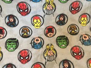 Avengers 57 X 82 Marvel Adult Fleece Blanket Spiderman Hulk Ironman Thor Throw
